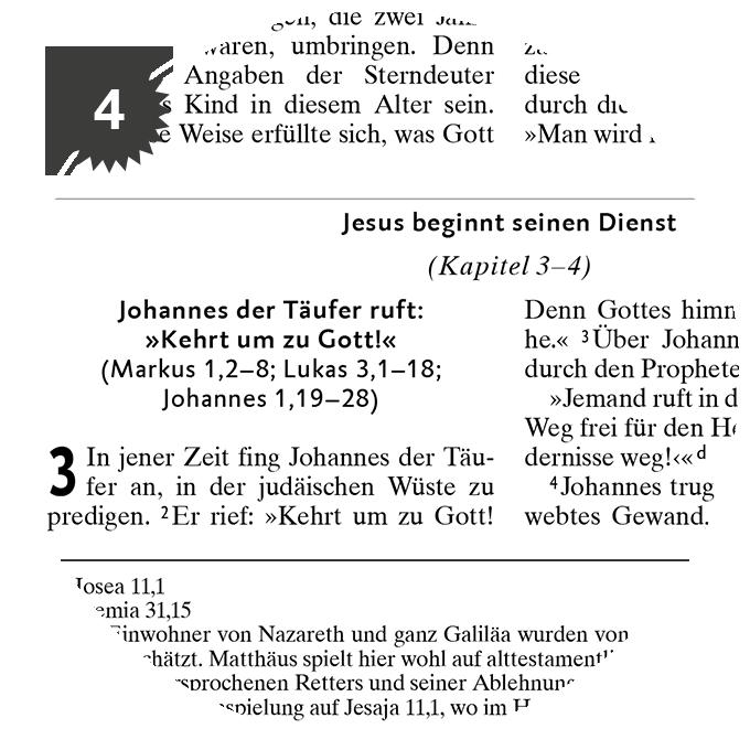 4) Gliederungsüberschriften